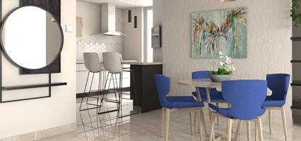 תמונה מייצגת עיצוב מטבח בדירת גן ברחובות