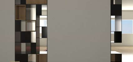 הדמיה תכנון ספריה בדירה בראשון לציון 01
