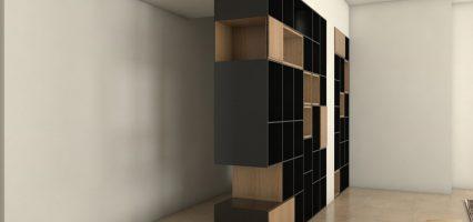 הדמיה תכנון ספריה בדירה בראשון לציון 02