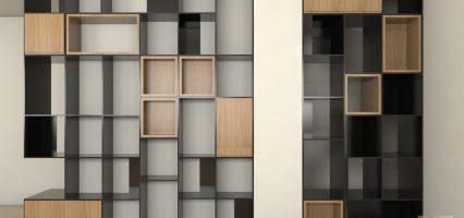 הדמיה תכנון ספריה בדירה בראשון לציון 03